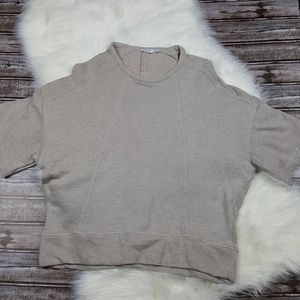 Zara W/B Collection Beige Short Sleeve Sweater
